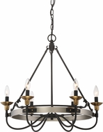 Quoizel CTH5006AN Castle Hill Antique Nickel Ceiling Chandelier