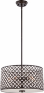Quoizel CTN2817IB Catherine Imperial Bronze Drum Ceiling Pendant Light