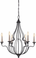 Quoizel CYN5006MB Canyon Mottled Black Hanging Chandelier
