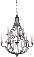 Quoizel CYN5009MB Canyon Mottled Black Chandelier Light