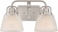 Quoizel DBN8602BN Dublin Brushed Nickel 2-Light Bathroom Lighting