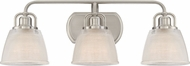Quoizel DBN8603BN Dublin Brushed Nickel 3-Light Lighting For Bathroom