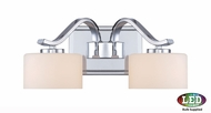 Quoizel DVN8602CLED Devlin Contemporary Polished Chrome LED 2-Light Bathroom Lighting Fixture