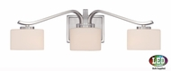 Quoizel DVN8603BNLED Devlin Modern Brushed Nickel LED 3-Light Vanity Lighting