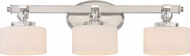 Quoizel DW8603BN Downtown Brushed Nickel Xenon 3-Light Bathroom Sconce