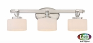 Quoizel DW8603BNLED Downtown Brushed Nickel LED 3-Light Bath Sconce