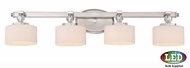 Quoizel DW8604BNLED Downtown Brushed Nickel LED 4-Light Bathroom Vanity Light Fixture