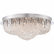 Quoizel EMP1616C Empress Polished Chrome Finish 16  Wide Xenon Flush Lighting