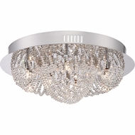 Quoizel EMP1623C Empress Polished Chrome Finish 10  Tall Xenon Flush Mount Lighting