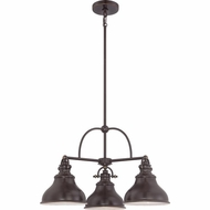 Quoizel ER5103PN Emery Vintage Palladian Bronze Finish 24  Wide Mini Lighting Chandelier