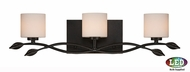 Quoizel ERN8603IBLED Erin Imperial Bronze LED 3-Light Bathroom Light Sconce