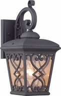Quoizel FQ8407MK Fort Quinn Traditional Marcado Black Outdoor Wall Light Sconce
