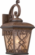 Quoizel FQ8409AWFL Fort Quinn Traditional Antique Brown Fluorescent Exterior Wall Sconce Light