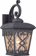 Quoizel FQ8409MK Fort Quinn Traditional Marcado Black Outdoor Wall Sconce