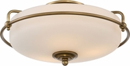 Quoizel GF1617WS Griffin Weathered Brass Flush Mount Lighting Fixture