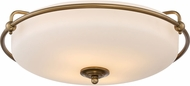 Quoizel GF1621WS Griffin Weathered Brass Flush Ceiling Light Fixture