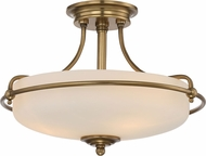 Quoizel GF1717WS Griffin Weathered Brass Flush Mount Ceiling Light Fixture