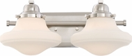 Quoizel GRN8602BN Garrison Brushed Nickel 2-Light Bathroom Sconce Lighting
