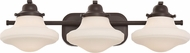 Quoizel GRN8603WT Garrison Western Bronze 3-Light Bathroom Lighting