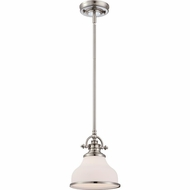 Quoizel GRT1508BN Grant Brushed Nickel Finish 9.5  Tall Mini Hanging Pendant Lighting