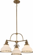 Quoizel GRT5103WS Grant Weathered Brass Mini Chandelier Light