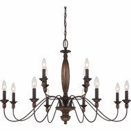 Quoizel HK5012TC Holbrook Tuscan Brown Finish 24.5  Tall Chandelier Lighting