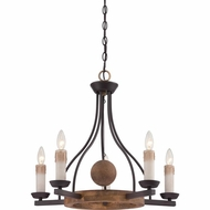 Quoizel HMP5005WT Hampshire Rustic Western Bronze Finish 25  Wide Hanging Chandelier