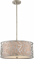 Quoizel JV2820OS Jarvis Old Silver Drum Pendant Light Fixture