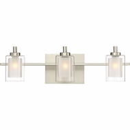 Quoizel KLT8603BNLED Kolt Modern Brushed Nickel LED 3-Light Vanity Light Fixture