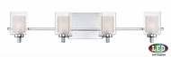 Quoizel KLT8604CLED Kolt Modern Polished Chrome LED 4-Light Vanity Lighting