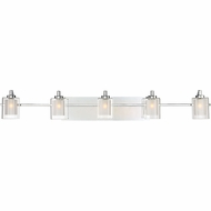 Quoizel KLT8605CLED Kolt Contemporary Polished Chrome LED 5-Light Bathroom Wall Sconce