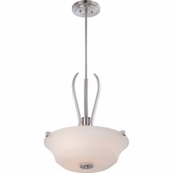 Quoizel KPR2818BN Kemper Contemporary Brushed Nickel Finish 19  Wide Ceiling Pendant Light