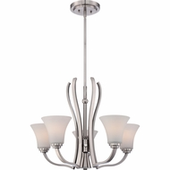 Quoizel KPR5005BN Kemper Modern Brushed Nickel Finish 18.5  Tall Mini Lighting Chandelier
