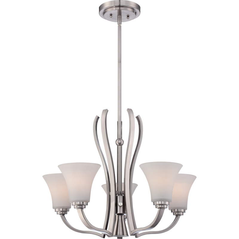 Quoizel KPR5005BN Kemper Modern Brushed Nickel Finish 18.5u0026nbsp; Tall Mini  Lighting Chandelier. Loading zoom
