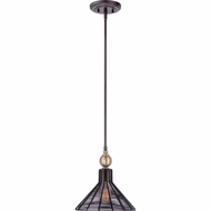 Quoizel LBH1511WT Long Beach Western Bronze Finish 11  Wide Mini Drop Lighting Fixture