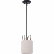 Quoizel LNA1506K Lena Mystic Black Finish 6  Wide Mini Pendant Hanging Light