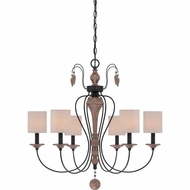 Quoizel LNA5006K Lena Mystic Black Finish 28  Wide Chandelier Lamp