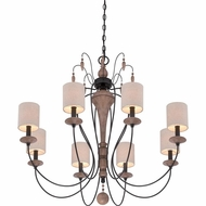 Quoizel LNA5008K Lena Mystic Black Finish 32.5  Tall Chandelier Light