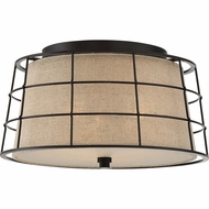 Quoizel LND1616MC Landings Mottled Cocoa Ceiling Light Fixture