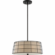 Quoizel LND2820MC Landings Mottled Cocoa Drum Pendant Lighting Fixture