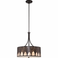 Quoizel MC1691CIB Vega Imperial Bronze Finish 22.5  Tall Drum Pendant Lamp