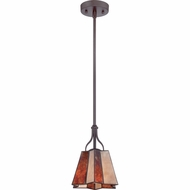 Quoizel MC1705PWT Elson Western Bronze Finish 10.5  Tall Mini Hanging Lamp