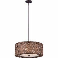 Quoizel MC1706CPN Ruckman Palladian Bronze Finish 20  Wide Drum Hanging Light