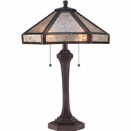 Quoizel MC1796TRS Tiffany Russet Finish 17  Wide Table Lamp