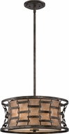 Quoizel MC1910MM Mica Mottled Silver Drum Ceiling Light Pendant