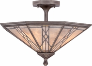 Quoizel MCCS1720AS Cyrus Tiffany Anniversary Silver Overhead Lighting