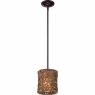 Quoizel MCRM1507PN Ruckman Palladian Bronze Finish 7  Wide Mini Drum Drop Lighting