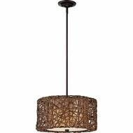 Quoizel MCRM2816PN Ruckman Palladian Bronze Finish 16  Wide Drum Drop Ceiling Lighting