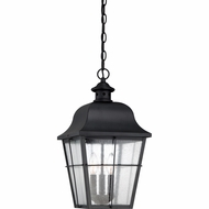Quoizel MHE1910K Millhouse Traditional Mystic Black Finish 10  Wide Exterior Pendant Light Fixture