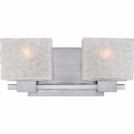 Quoizel MLD8602BN Melody Contemporary Brushed Nickel Finish 15  Wide 2 Light Vanity Light Fixture